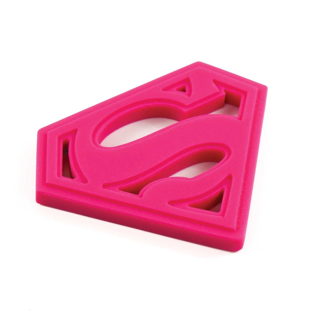 DC Comics Silicone Teether: Superman Pink