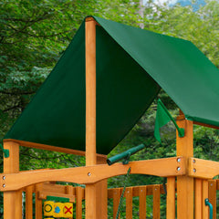 Navigator w/ Amber Posts and Sunbrella® Canvas Forest Green Canopy