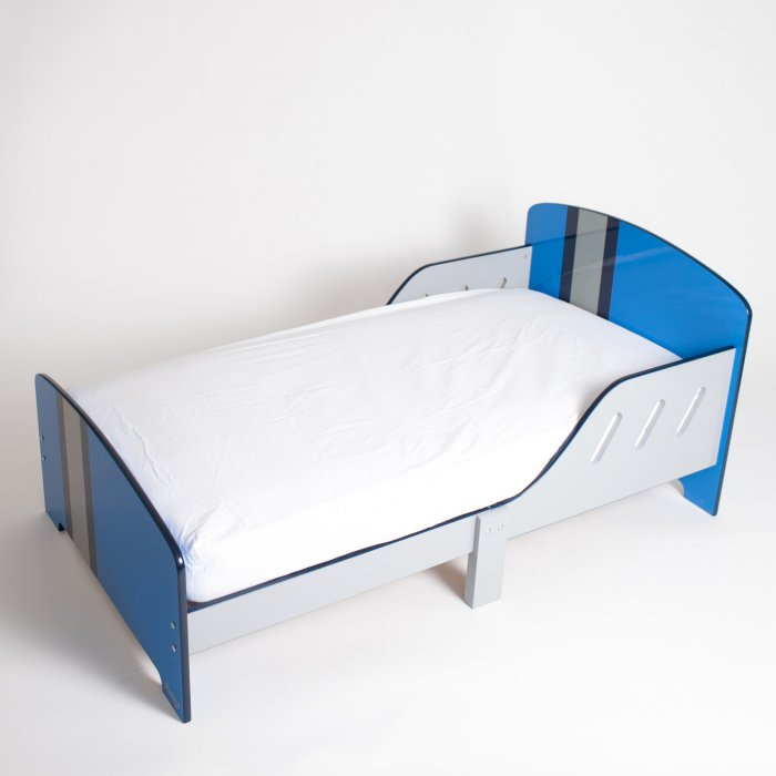 P'kolino  Classically Cool Toddler Bed - Racing Stripes