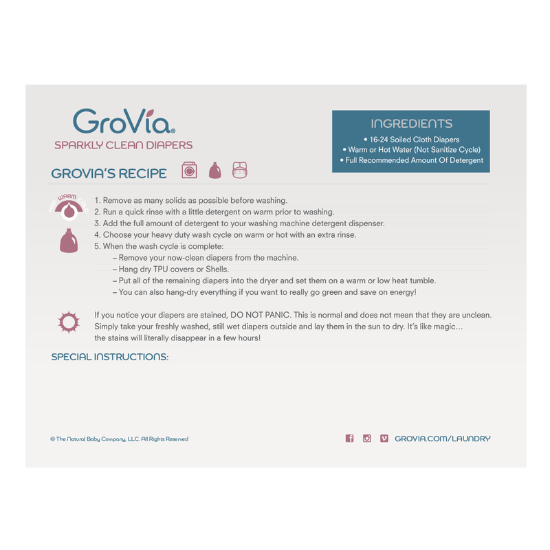 Grovia Laundry Recipe Magnet