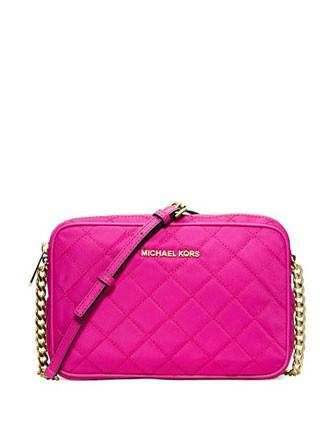 Michael Kors Jet Set Travel Crossbody - Raspberry