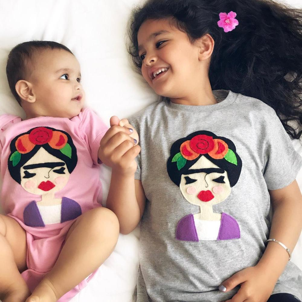 Frida - Kids Shirt - Pink & Gray