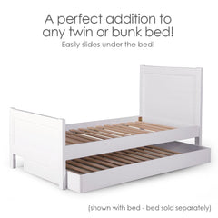 Nesto Trundle Bed - White