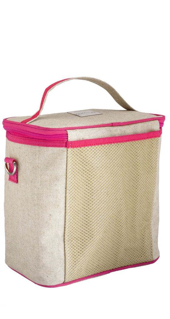 Pink Fawn Cooler Bag (Small) - Raw Linen
