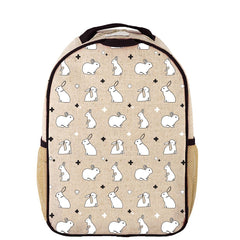 Bunny Tile Toddler Backpack - Raw Linen