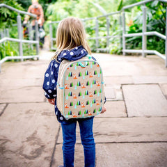 Olive Fox Toddler Backpack - Raw Linen