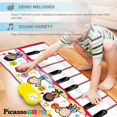 PicassoTiles Large Piano Floor Play Mat