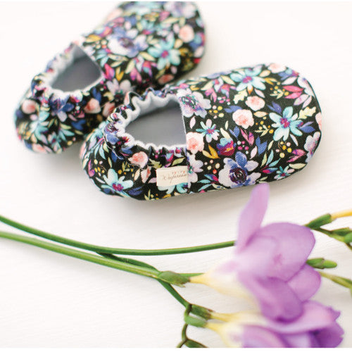Organic Baby Moccasins - Berry Rose
