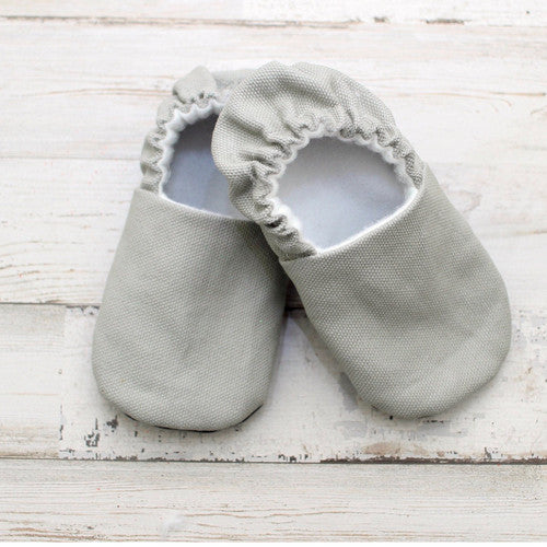 Organic Baby Moccasins - Classic Grey