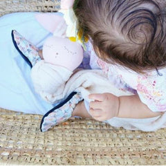 Organic Baby Moccasins - Feather