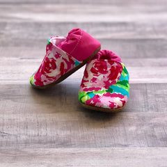 Fuchsia Floral Low Tops