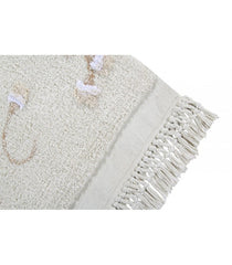 Washable Rug English Garden Ivory