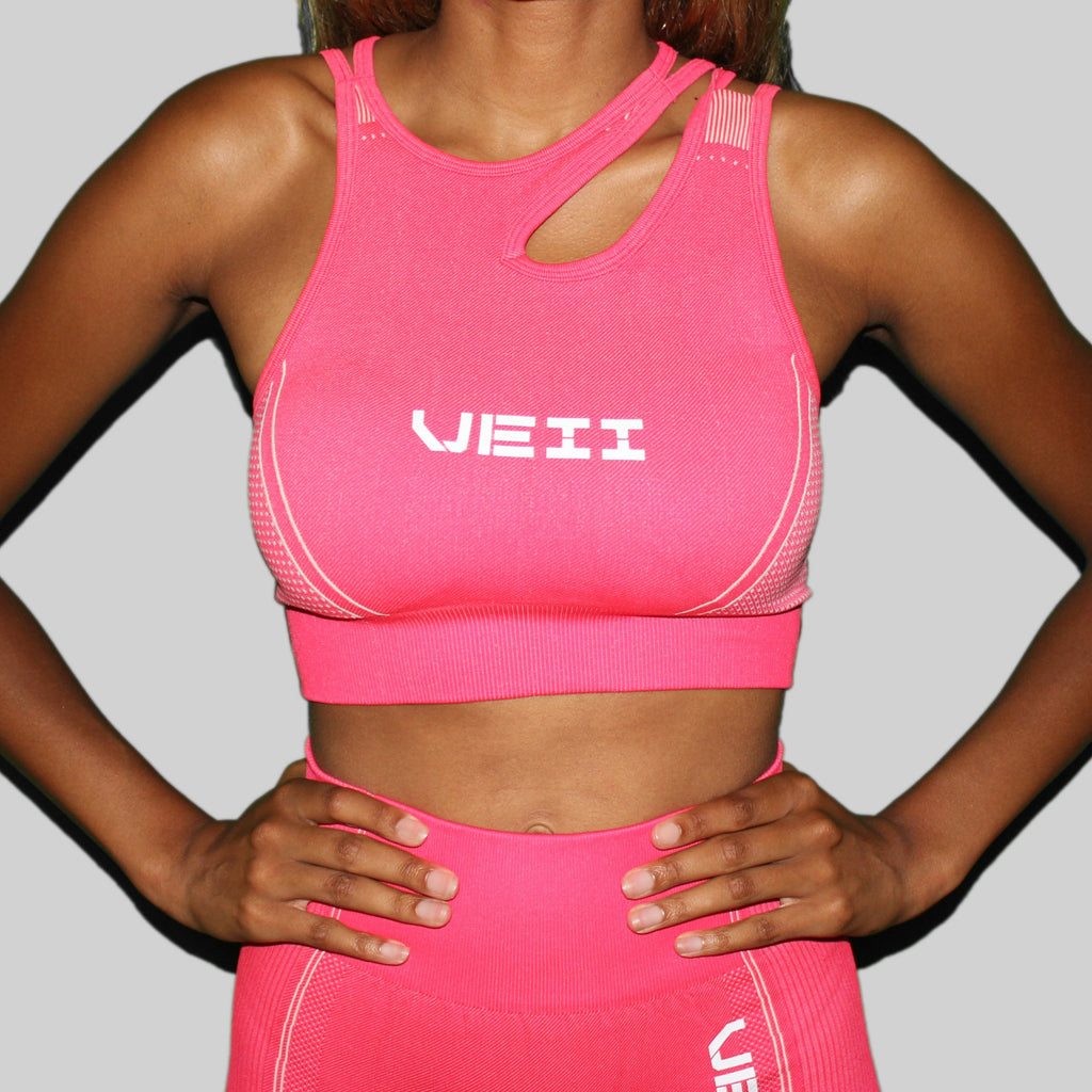 Surge Seamless Sports Bra - Hot Pink