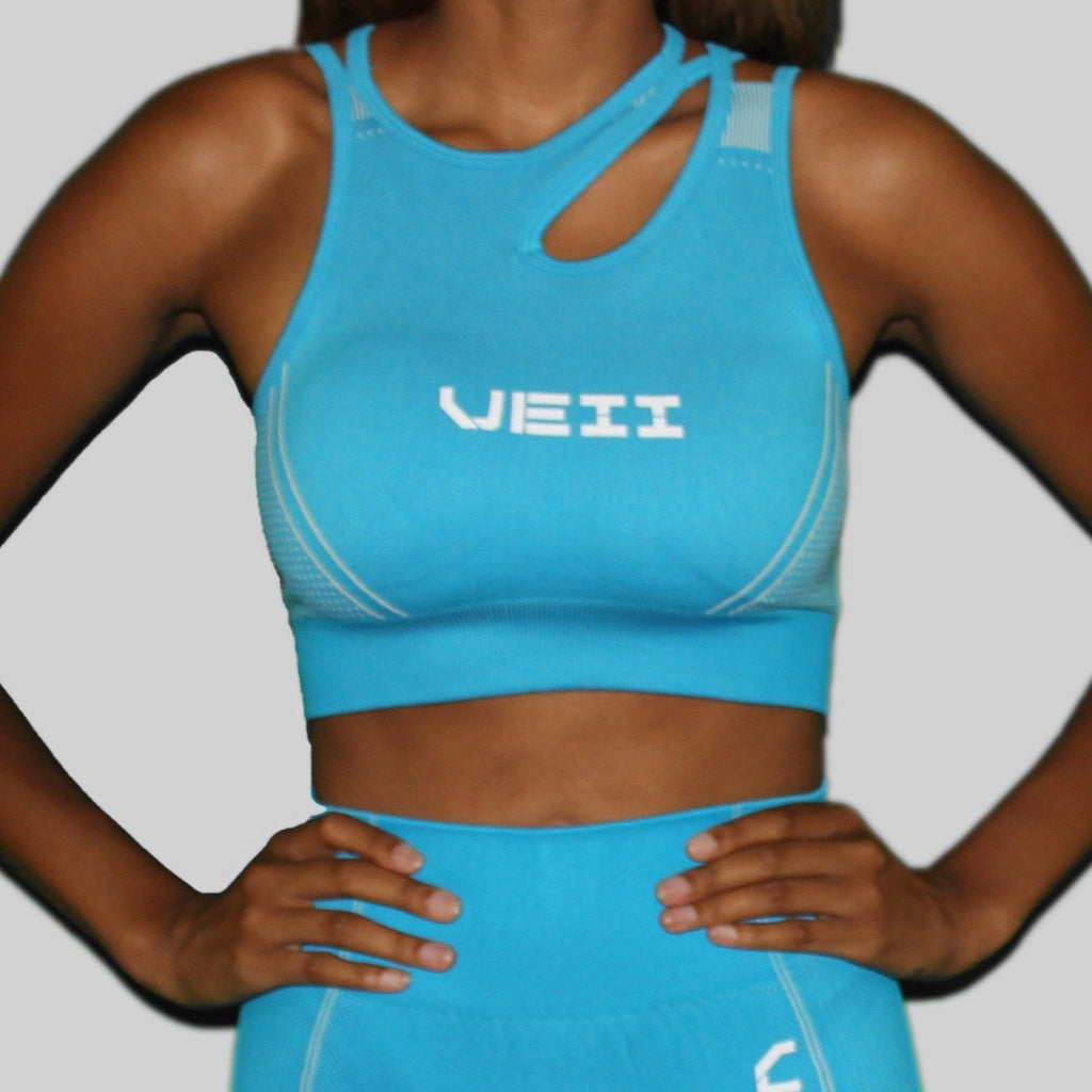 Surge Seamless Sports Bra - Blue
