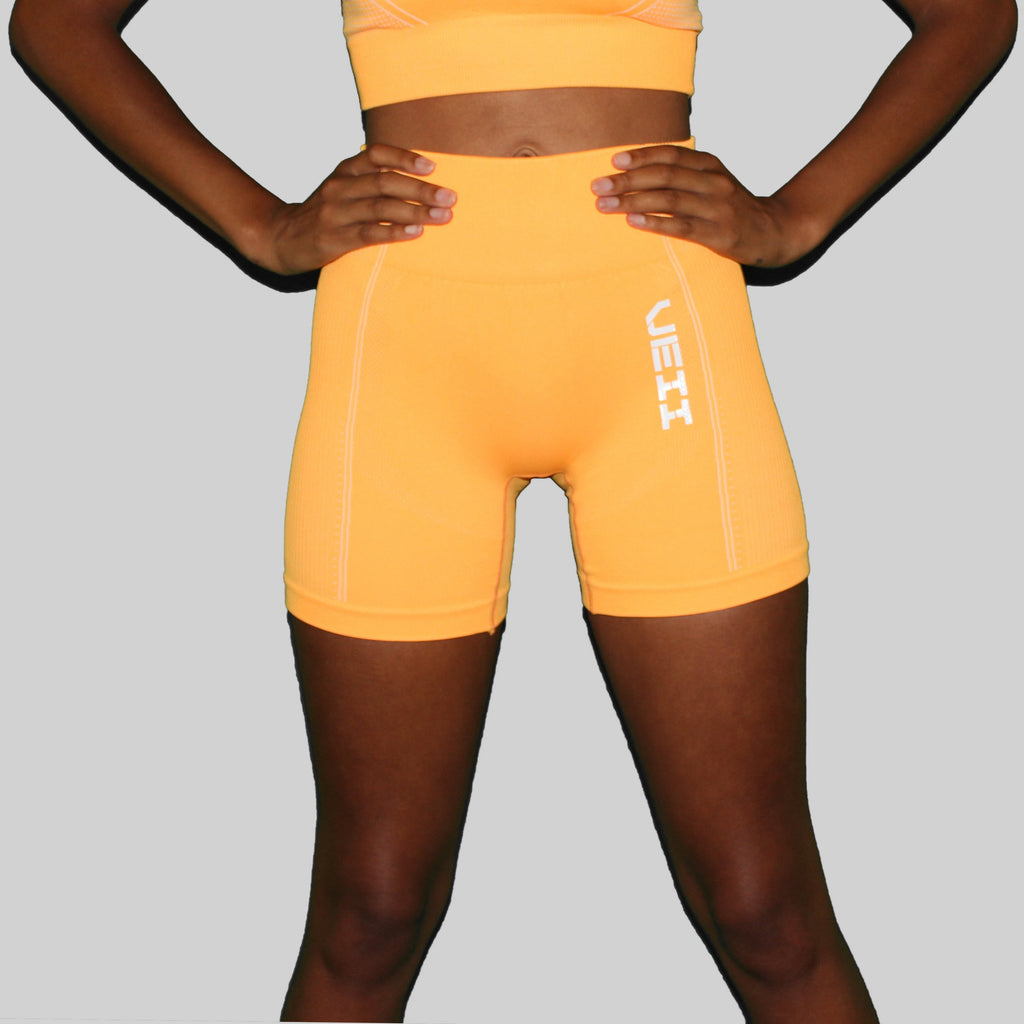 Surge Seamless Shorts - Orange