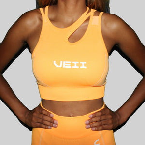 Surge Seamless Sports Bra - Orange