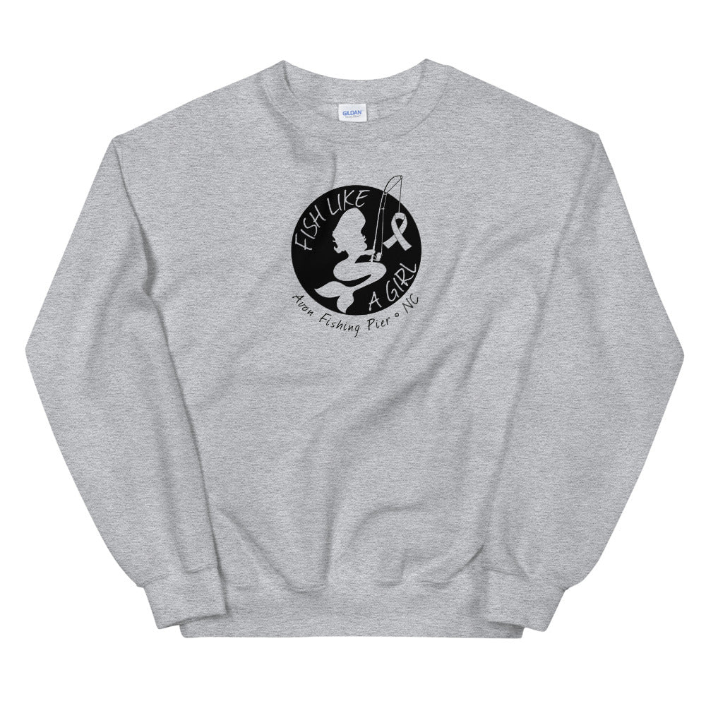 Fish Like A Girl Crewneck Sweatshirt