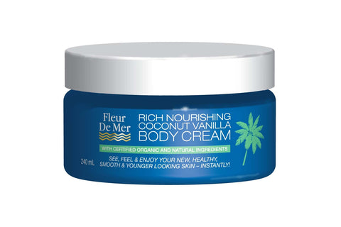 RICH NOURISHING COCONUT VANILLA BODY CREAM - Skin friendly for all skin types