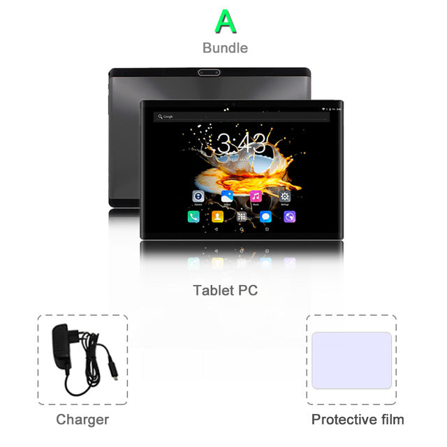 CIGE N9 10.1 inch tablet PC 4G Lte Android 8.0 Octa Core Super tablets Ram 6GB Rom 64GB WiFi GPS 10 tablet IPS Dual SIM GPS