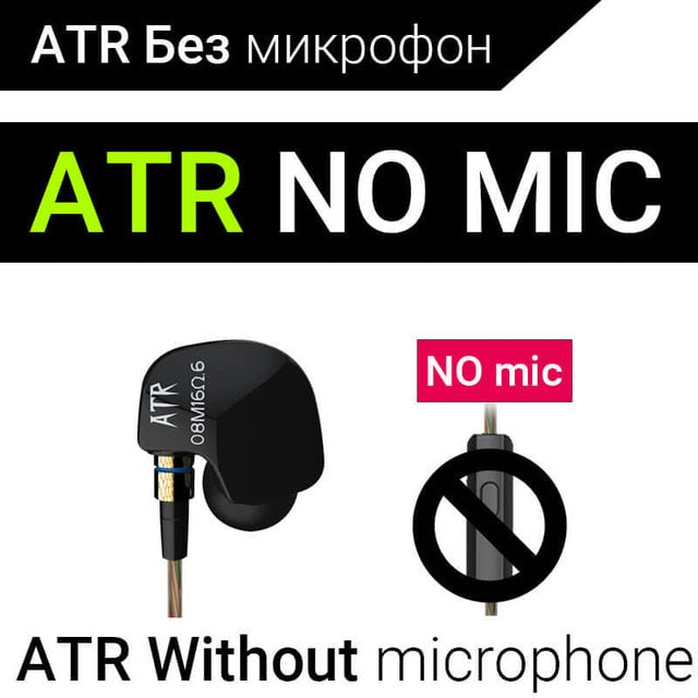 KZ ATE ATR HD9 ZS3E Copper Driver HiFi Sport Headphones In Ear Earphone For Running With Microphone Headset music Earbuds
