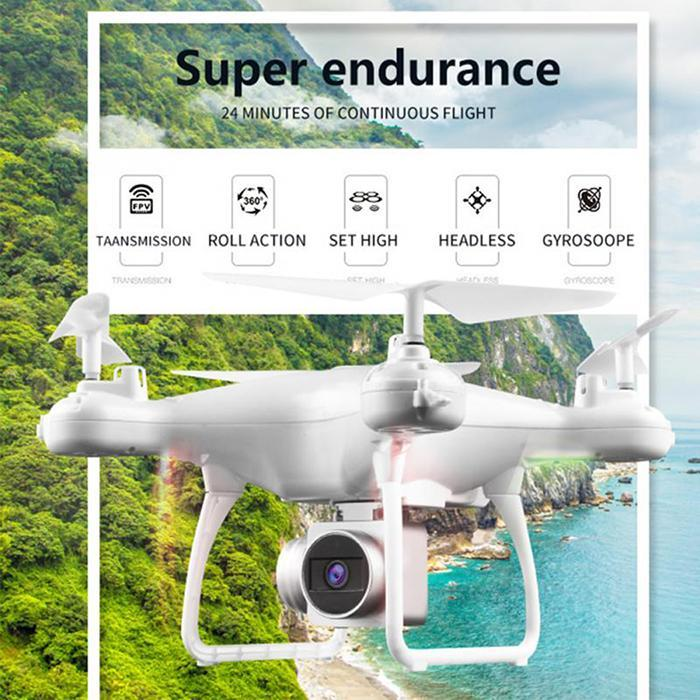 FOR HJMAX RC Quadcopter Kid Toy Training Wi-Fi Supper Endurance Drone Built-in 1080P HD Camera FPV RC Drone White black