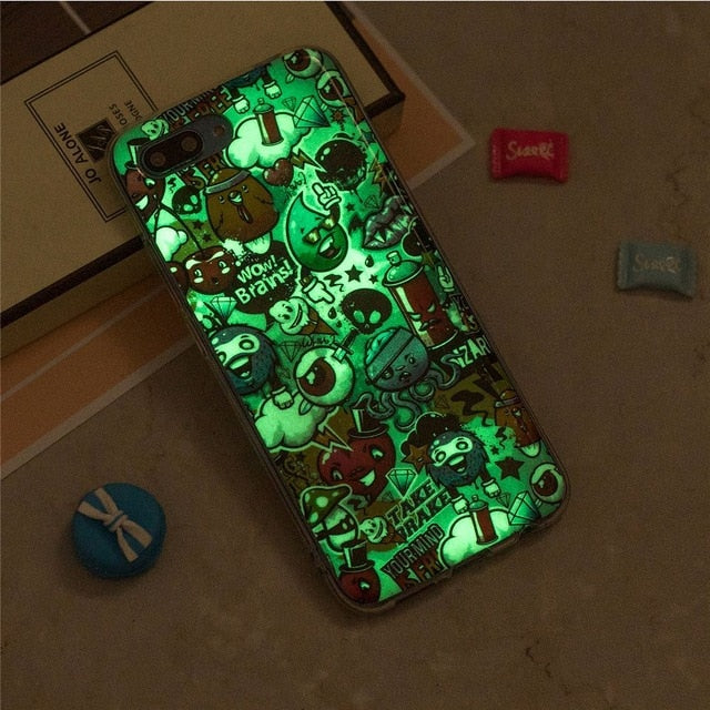 CASEWIN Luminous phone cases For Huawei Honor 10 Case Silicone Ultra Slim Soft TPU Fluorescence Cover For Huawei Honor 10 Case