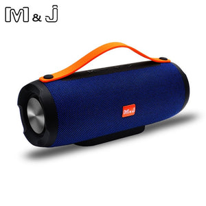 M&J Portable wireless Bluetooth Speaker Stereo big power 10W system TF FM Radio Music Subwoofer Column Speakers for Computer