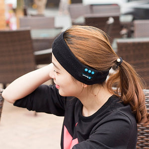 Vapeonly Knitting Music Headband Headset w/ Mic Wireless Bluetooth Earphone Headphone For Running Yoga Gym Sleep Sports Earpiece