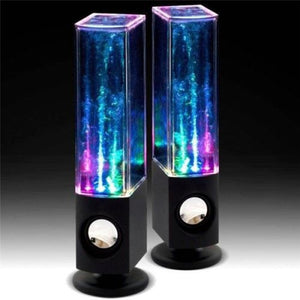 2PCS LED Light Dancing Water Music Fountain Light Speakers for PC Laptop For Phone Portable Desk Stereo Speaker