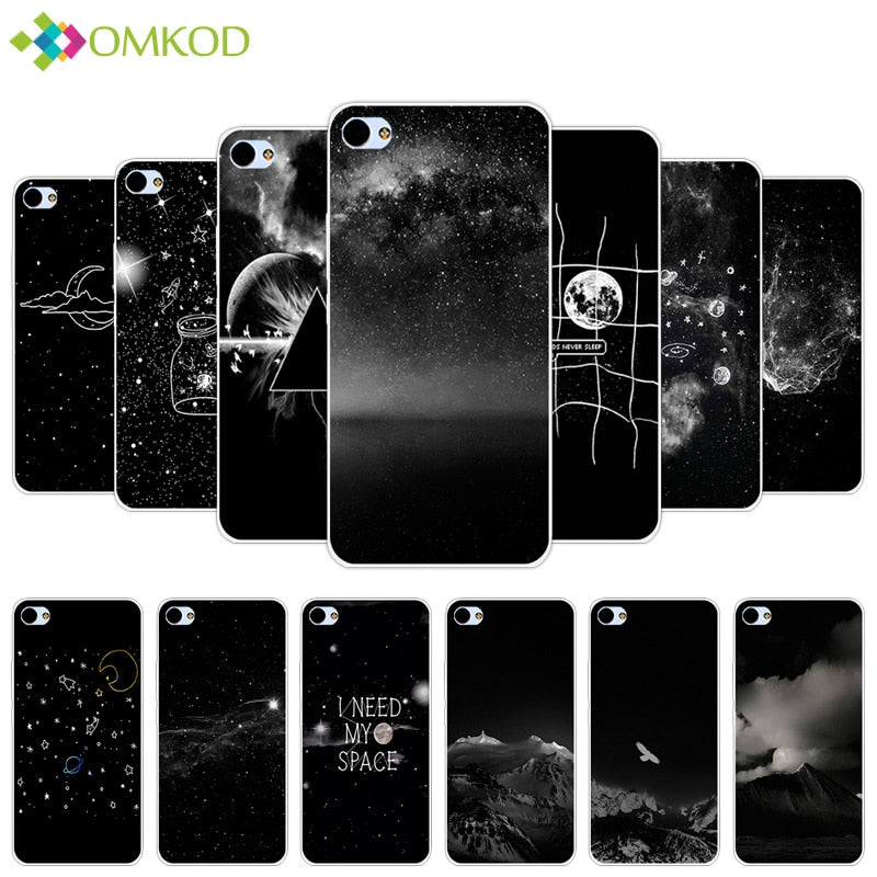 5.0'' For Meizu U10 Fundas Black Back Matte Starry Cover For Meizu U 10 Soft TPU Silicone Coque For Meizu Meilan U10 Phone Case