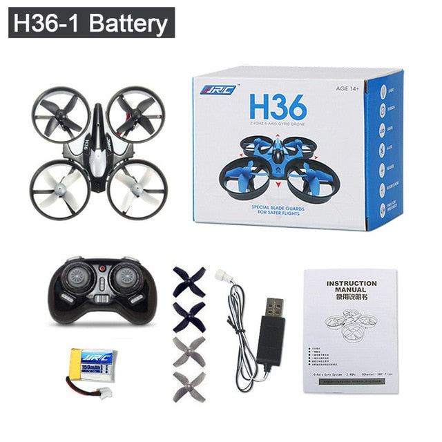 JJRC H36 Mini Drone RC Drone Quadcopters 4CH 6Axis Headless Mode One Key Return RC Helicopter Dron Copter Toys For Children
