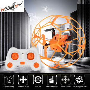 HelicMax RC Quadcopter Headless Drone Toys Remote Control Drone 1340 2.4GHz 4CH RC Ball drone Mini Drone Flip Ball Helicopter