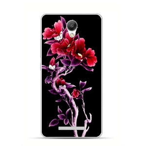 xiaomi redmi note 2 Case,Silicon Popular flowers Painting Soft TPU Back Cover for xiaomi redmi note 2 protect Phone cases