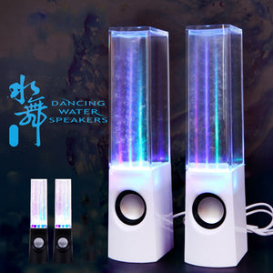 LED Dancing Water Fountain Show Music Light Computer Speakers For Laptop PC iPhone MP3 Phone Gadget Accessories