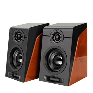 2pcs New MiNi Subwoofer Restoring Ancient Ways Desktop Small Computer PC Speakers With USB 2.0 & 3.5mm Interface