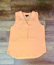 Load image into Gallery viewer, Sleeveless Orange and Black Blouse