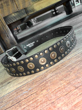 Load image into Gallery viewer, Studded Leather Belt