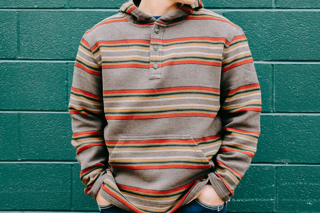 Pendleton Striped Cotton Hoodie