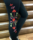 Embroidered Leggings