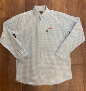 Cinch FR Long Sleeve Plaid Button Up
