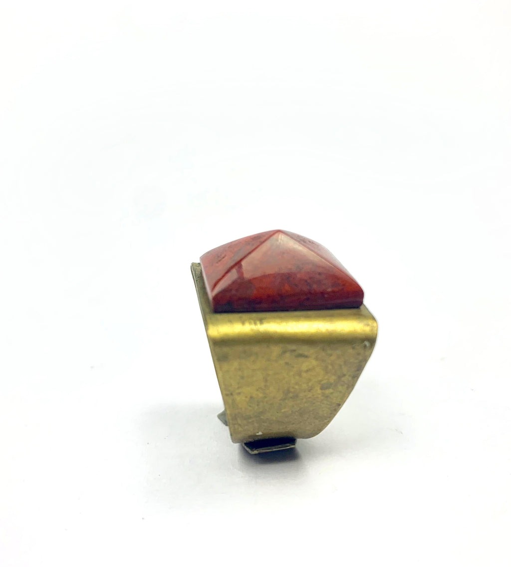 Amulet Pyramid of Red Jasper