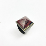 Amulet Pyramid of Earth Red Jasper