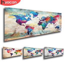 Load image into Gallery viewer, HUACAN Full Square Diamond Painting World Map 5D DIY Diamond Embroidery Sale Landscape Mosaic Picture Of Rhinestone Home Decor