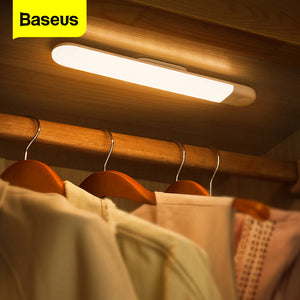 Baseus Under Cabinet Light PIR Motion Sensor Human Induction Cupboard Wardrobe Lamp Smart LED Closet Light For Kitchen Bedroom