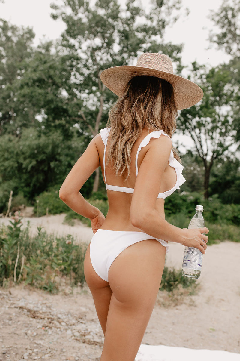 Sample Montauk Bikini Bottom - White