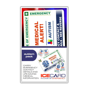 Autism - ICE card pack (incase of emegency)