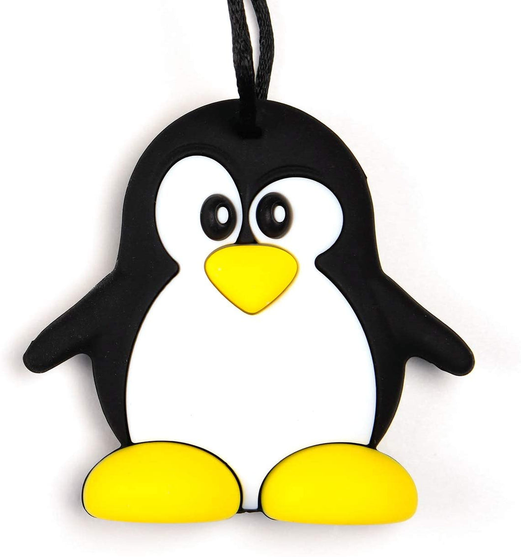 Penguin shaped chew with breakaway cord