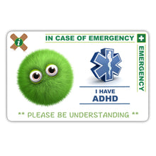 Load image into Gallery viewer, ADHD Child - ICE card pack (incase of emegency)