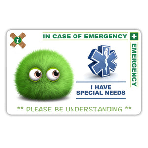 Special Needs Child - ICE card pack (incase of emegency)
