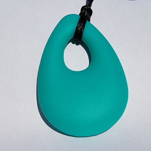 Rain Drop shaped chew necklace with breakaway cord